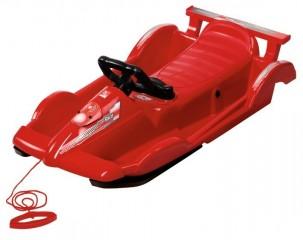 Řiditelné dětské boby AlpenRace červené s volantem