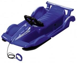 Řiditelné dětské boby AlpenRace modré s volantem