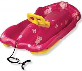 Řiditelné dětské boby AlpenSpace růžové s volantem
