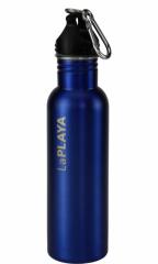 Nerezová láhev s karabinou CARABINER 750ml modrá